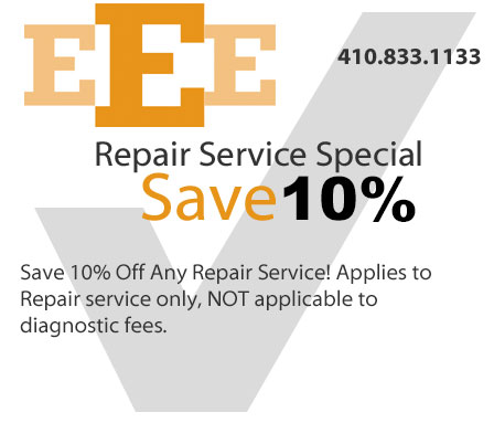 Save 10% on Repair Service Coupon